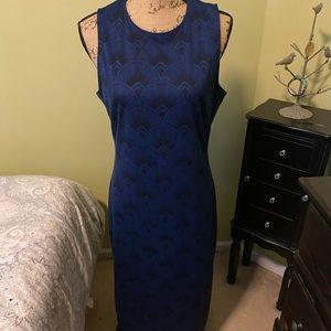 H&M blue and black maxi dress
